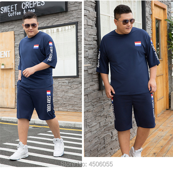 HTB1F4OQUSzqK1RjSZPcq6zTepXav - Summer Shorts White Red Tracksuit Men Tee Shirt Homme Plus Size 6XL 7XL 8XL 9XL Mens Clothing 2 Two Piece Set Boys Sets Clothes