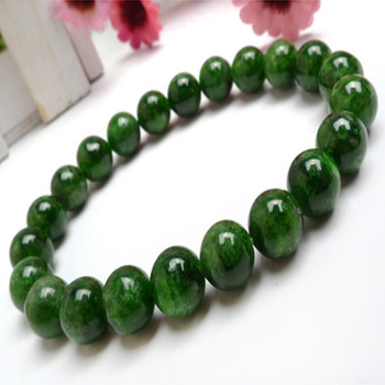 7mm Natural Green Diopside Gemstone Round Beads Bracelet AAA