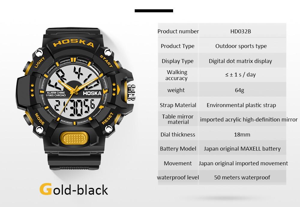 5d99a891056 ᗗMarca HOSKA esporte da menina estudante relógio de Quartzo das ...