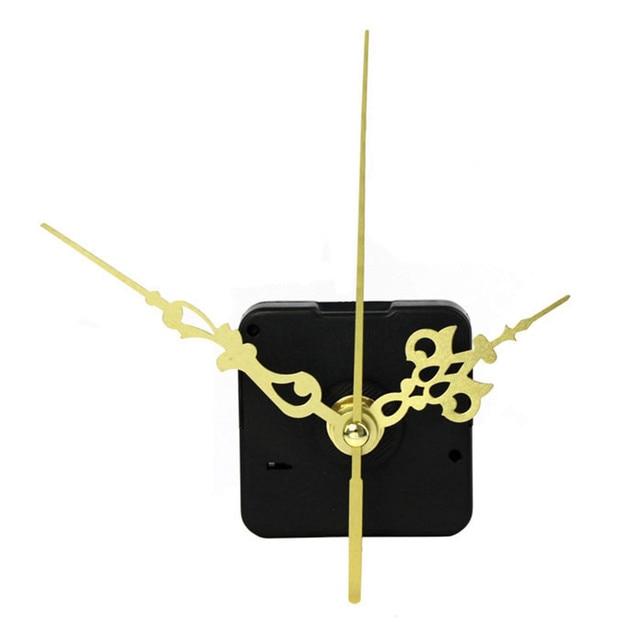 Zero High Quality Quartz Clock Movement Mechanism DIY Repair Parts Gold + Hands Dropshipping June#6