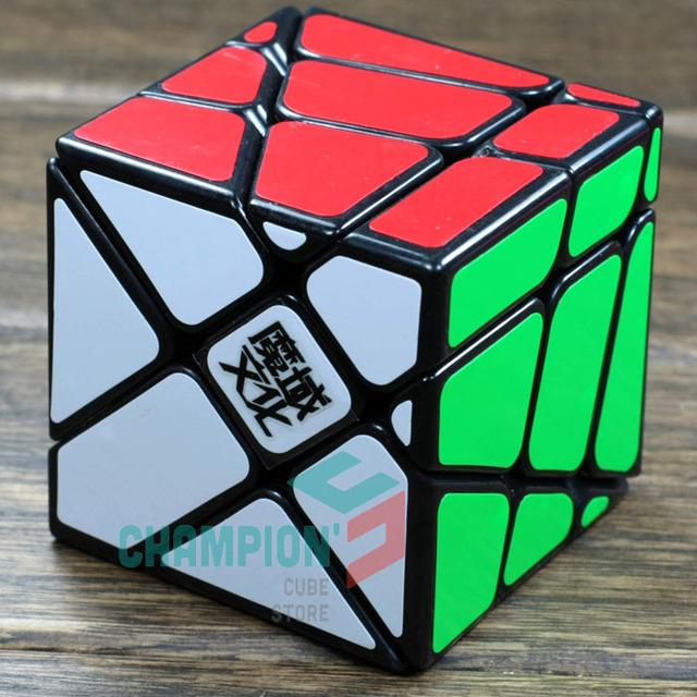 MoYu Crazy Fisher Magic Cube Puzzle White And Black And Transparent Purple Limited Edition Educational Cubo magico Twist Toys