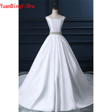 YuanDingYiSha Real Picture Sleeveless Lace Wedding Dress
