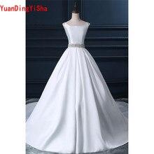 YuanDingYiSha Real Picture Sleeveless Lace Wedding Dress