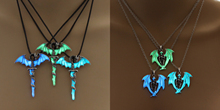 Luminous Jewelry Dragon Sword Pendant Necklace Game Of Throne Neck lace Glow In The Dark Anime Necklace For Men  Christmas Gift