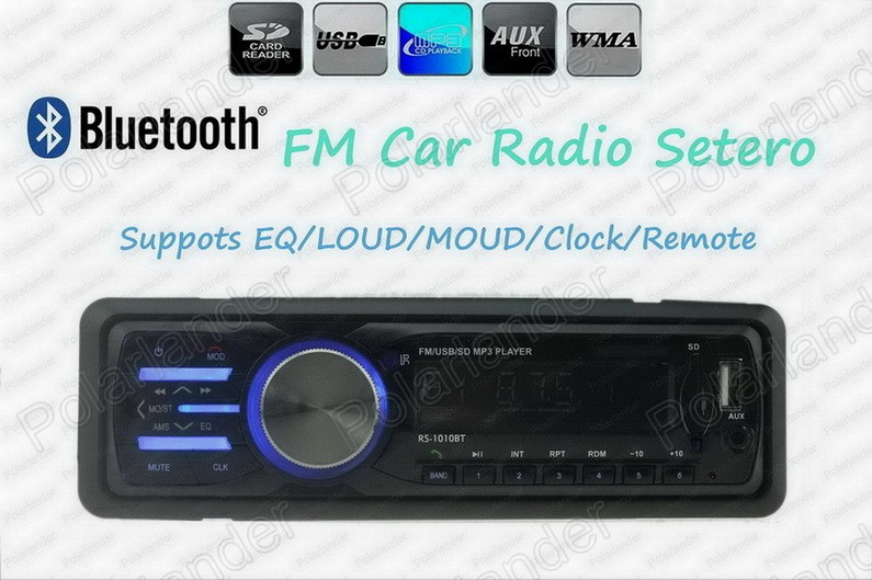 Best selling Car Radio Stereo Player Bluetooth Phone AUX-IN MP3 FM/USB/SD 1 Din/remote control Car Audio