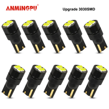 цена на ANMINGPU T10 Led 10pcs Signal Lamp T10 Led W5W Canbus 3030 SMD 168 194 for Auto Interior Wedge Clearance Reading lamp 12V White