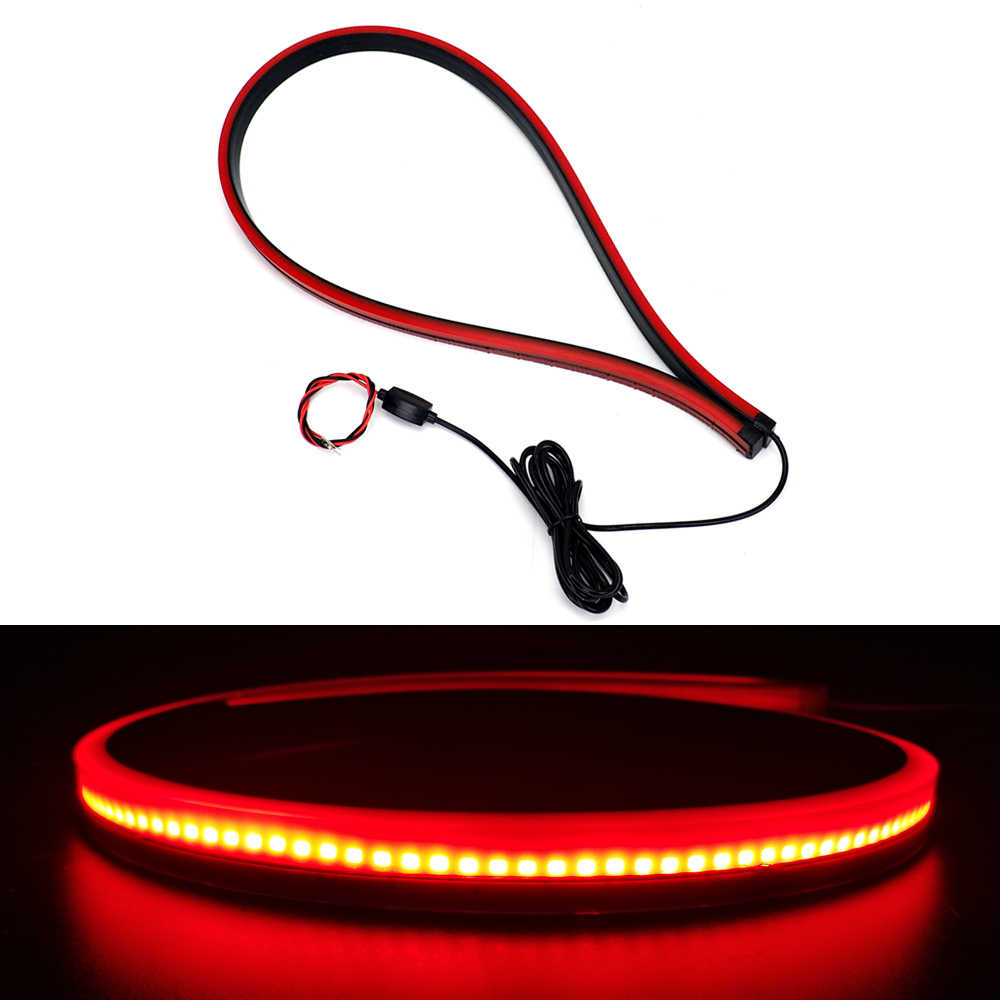 Detail Feedback Questions About Universal 90cm Flexible Car Led Warn The Heat In An Automobile New Unverisal High Mount Stop Rear Tail Warning Light Auto Waterproof Red