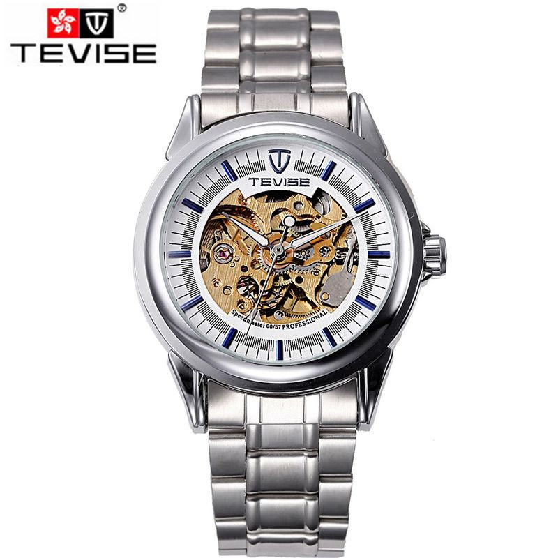 ФОТО Casual Relogios Masculino Watches Men's Skeleton Dial Auto Mechanical Mechanical Wristwatch Free Ship