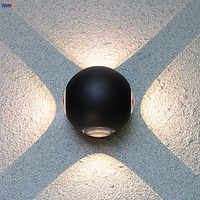 IWHD Round Aluminum LED Wall Lamp Outdoor Waterproof IP65 Garden Porch Balcony Lights Exterior Wall Light Luminaire Outside