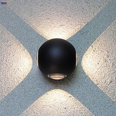 iwhd aluminio redondo conduziu a lampada de parede ao ar livre ip65 a prova dwaterproof agua