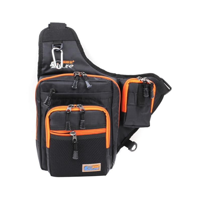 ФОТО Canvas Waterproof Fishing Tackle Bags Multi-Purpose Pesca Outdoor Fishing Tackle Bags Saddle Fishing Tackle Bags 39*32*12cm