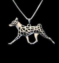Ожерелье doberman pinscher с подвеской из сплава в стиле бохо