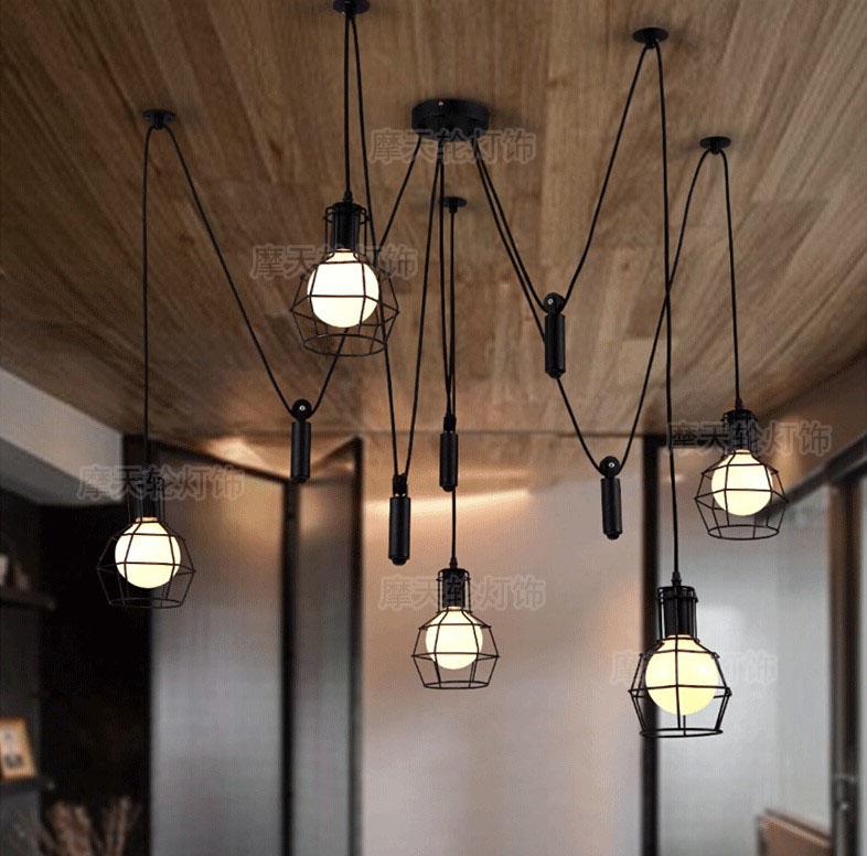 Nordic Retro Hanging Lamps Edison Bulb