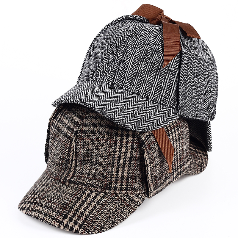 VORON Brand Sherlock Holmes Detective Hat Unisex Cosplay Accessories Berets Men Women Two Brims Beret Deerstalker Hat(China)
