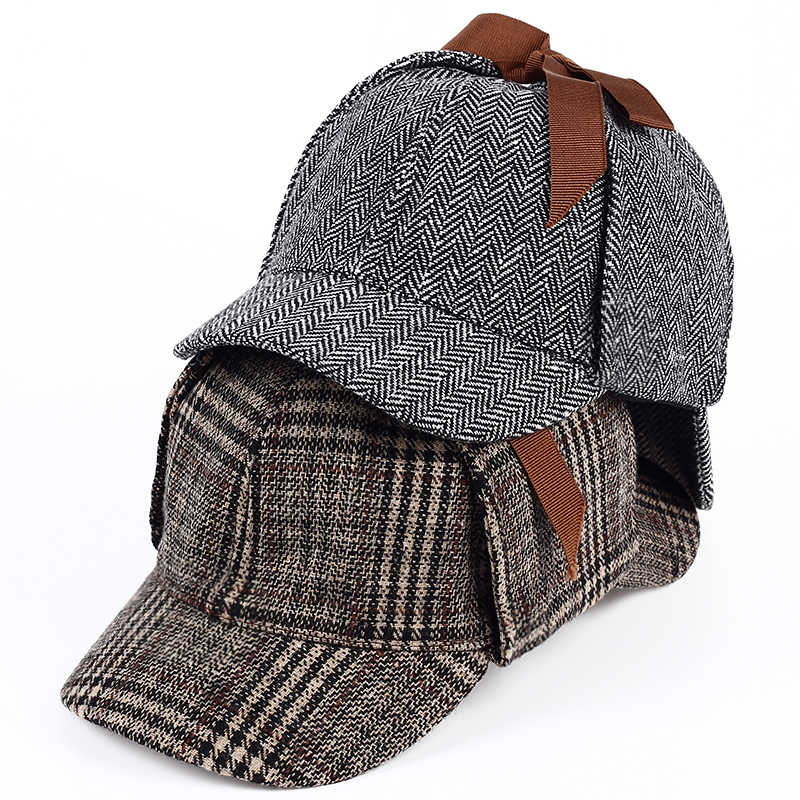 a34eb0cdd41 Detail Feedback Questions about VORON Brand Sherlock Holmes Detective Hat  Unisex Cosplay Accessories berets Men Women Two Brims beret Deerstalker hat  on ...