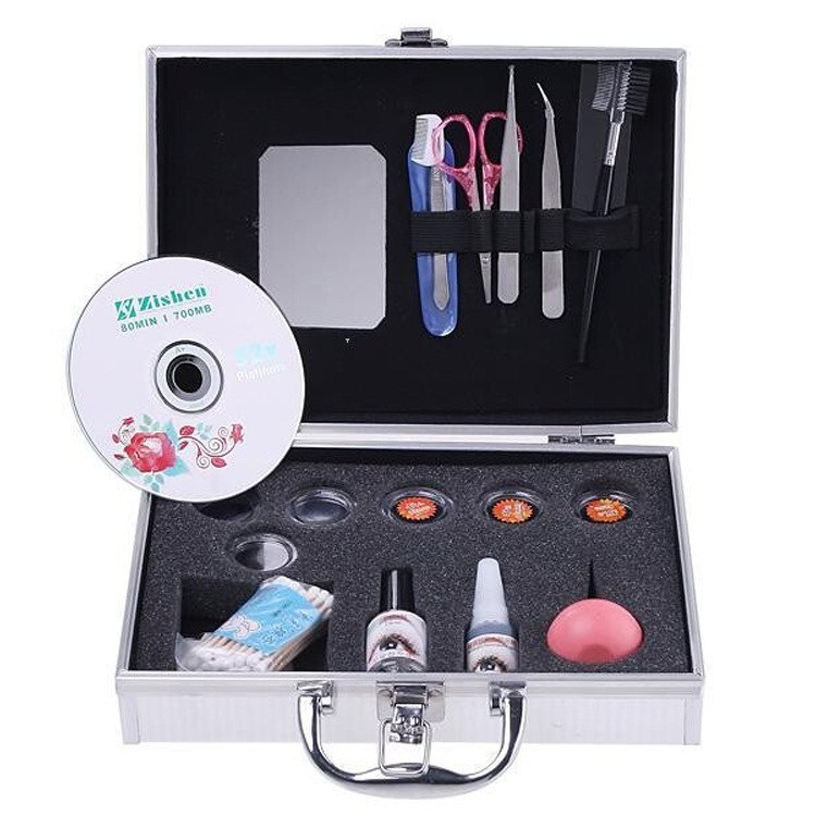 ATT-86 New Pro False Extension Eyelash Glue Brush Kit Set Salon Eyelashes Makeup Tools Free Shipping Women Beauty Tool new fashion professional high quality false extension eyelash glue brush kit set with box case salon tool 4