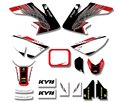 Power New Style TEAM GRAPHICS&BACKGROUNDS DECAL STICKERS Kits  For Honda CRF50 STYLE Pit Dirt bike(Black/White)
