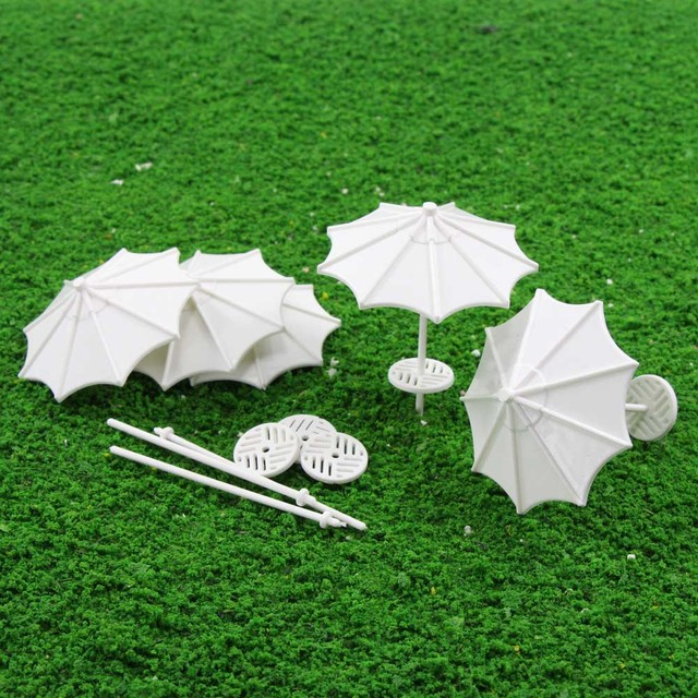 24pcs DIY parasol Model Train Railway Vertical Common Gifts 1:75 1:100 1:150 1:200 1:300 OO TT N  Z TYS03 Plastic Model Umbrella 1