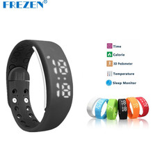 Frezen USB W2 SmartBand Браслет Смарт часы с калорий 3D шагомер Температура Sleep Monitor Водонепроницаемый браслет Вах