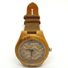 2016 Relogio Masculino мода 100% natual деревянный бамбука montre homme reloj хомбре кварц — часы мужской часы