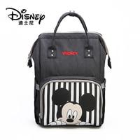 Disney Mickey Minnie baby Bag Bolsa Maternidade Waterproof Stroller Bag USB Baby Bottle thermos bags Mummy Backpack Nappy Bag