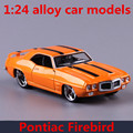 1:24 alloy car models,high simulation Pontiac Firebird  toy vehicles,metal diecasts,freewheeling,children's gift,free shipping