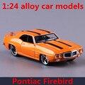 1:24 modelos de automóviles de aleación, alta simulación juguete vehículos Pontiac Firebird, metal funde, despreocupado, regalo de los niños, envío libre