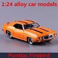 1:24 modelos de carros de liga, alta de simulação de brinquedo veículos Pontiac Firebird, metal diecasts, roda livre, presente das crianças, frete grátis