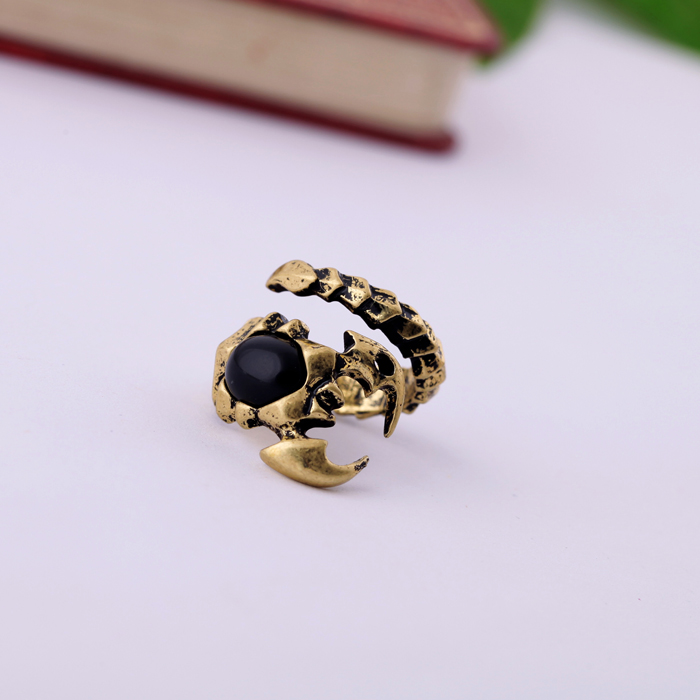 Cool Fashion Punk Ring Antique Gold Color Vintage Jewelry Scorpion Ring for Women Online Jewelry