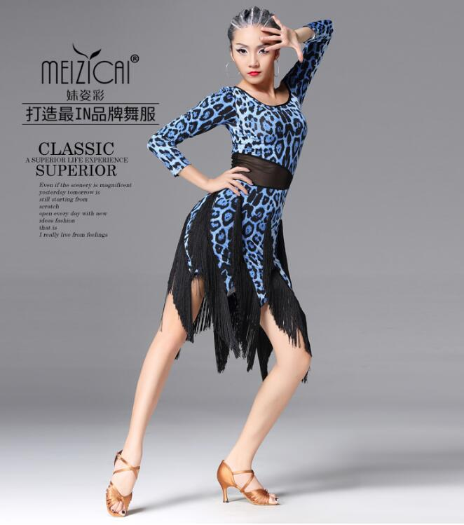Latin tassel dress Ballroom dance skirts Dance dress Dancing clothes