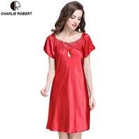 New Women S Sexy Lingerie Satin Silk Night Dress Plus Size S 3XL Sleepwear 9 Color