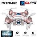 Cheerson CX-10W CX10W Mini Wifi FPV com 720 P 0.3MP Camera LED RC Flip 3D 4CH CX10 versão de atualização Mini Drone helicóptero de brinquedo de presente