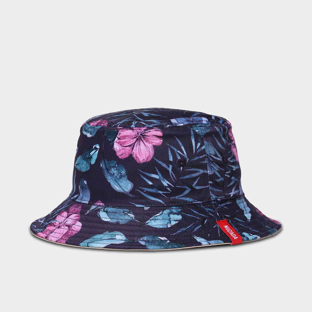 size 40 fd594 2aeae NUZADA Brand Printing Men Women Fisherman Hats Couple Bucket Hat Summer  Autumn Spring Shade Cotton Caps Double Sided Can Be Worn