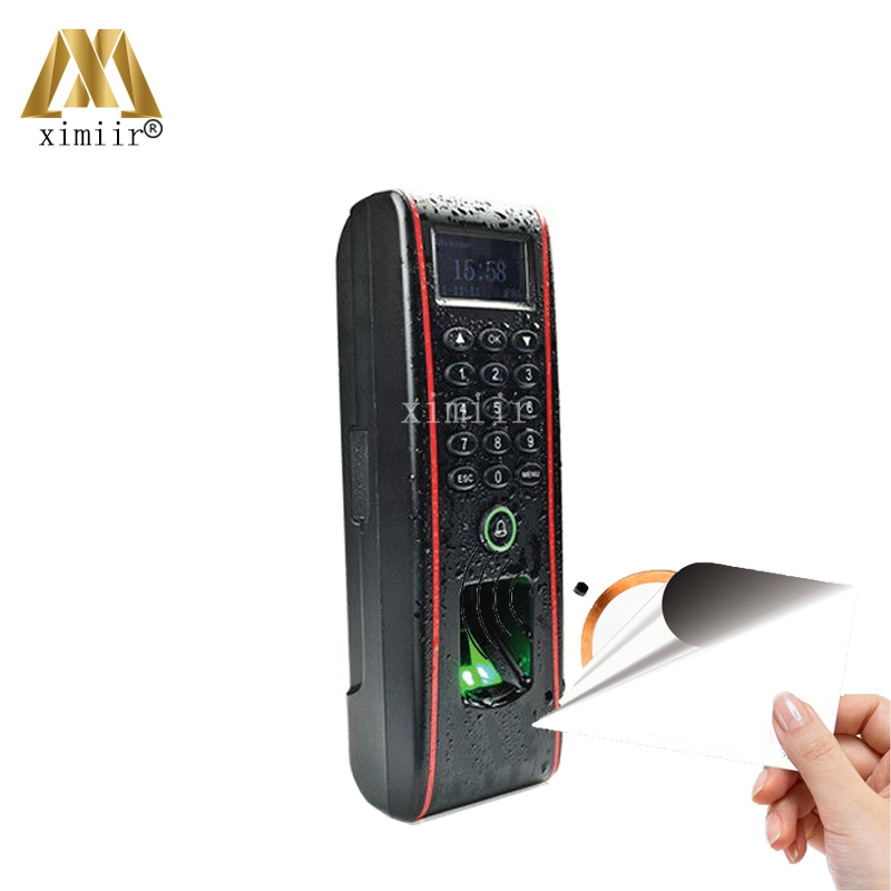 Good Quality IP65 Waterproof TCP/IP Standalone Fingerprint Access Control With MF Card Reader Linux System Door Access Control waterproof ip65 outdoor fingerprint access control outdoor access control with rfid card access controller tcp ip tf1700