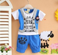 2013 Retail Free Shipping Cartoon Clothes For Baby Boy Children Clothing Sport Suit Tracksuit T Shirt