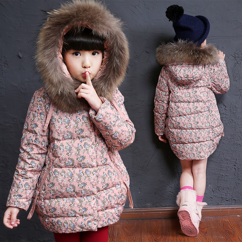 e07fd7ae0e59 2018 Fashion Kids Tops Girls Winter Clothes Children Jackets For ...
