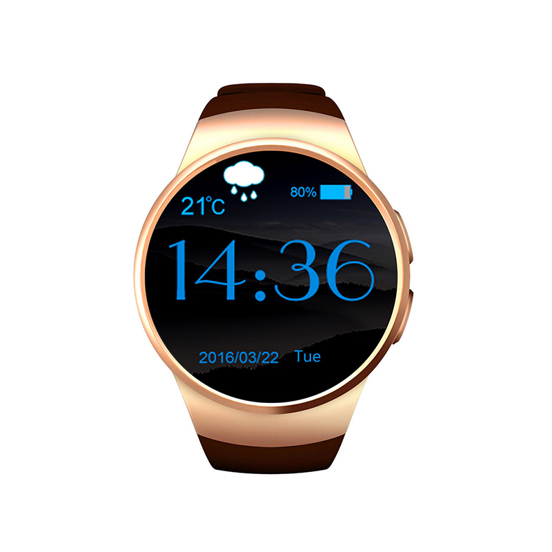 KW18 Bluetooth smart watch font b smartwatch b font with SIM TF Card Fitness Heart Rate