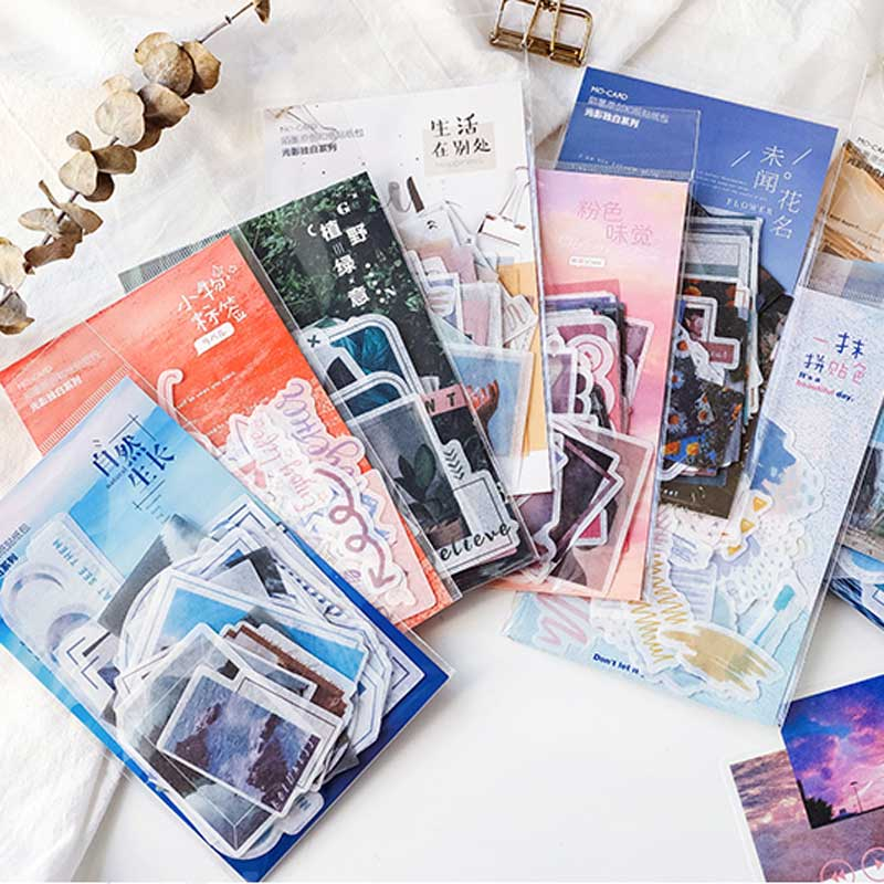 40 Pcs/pack Ins Nordic Travel Natural Scenery Stickers For Stationery Scrapbooking Diy Diary Sticker Album Journal Stick Label