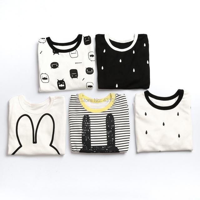 Los bebés de la muchacha Pijamas Traje de Dormir Ropa linda de Los Bebés Camisetas Niños Pijamas Inicio Ropa Del Juego Del Deporte # 184ssy