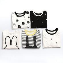 Bébé garçons fille Pyjama Costume de Nuit Bébé Garçons Vêtements mignon T-Shirts Enfants Pyjamas Accueil Sport Costume Vêtements # 184ssy