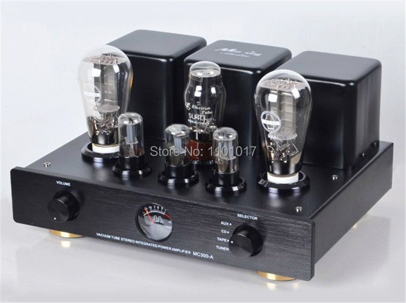 MeiXing MingDa MC300-A 300B tube amplifier  class HIFI EXQUIS signal-ended integrated triode lamp amp oldbuffalo 300b signal ended tube amplifier hifi exquis black aluminum chassis 4 way lamp amp