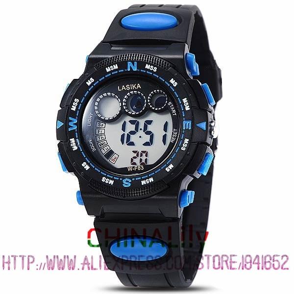 Kid s Multi functional 30M Waterproof Sports LED Electronic Wrist Watch with Stopwatch Night Light Alarm