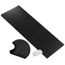 CACOY Extended Artificial Leather Desk Pads Protector -100x40cm- Large Waterproof Mouse Pad Keyboard Pad for Home & Office-Black недорого