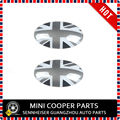 Brand New ABS Material UV Protected Black Union Jack Style Shift Knob Cover For mini cooper F55 F56 AT Option (2 Pcs/Set)