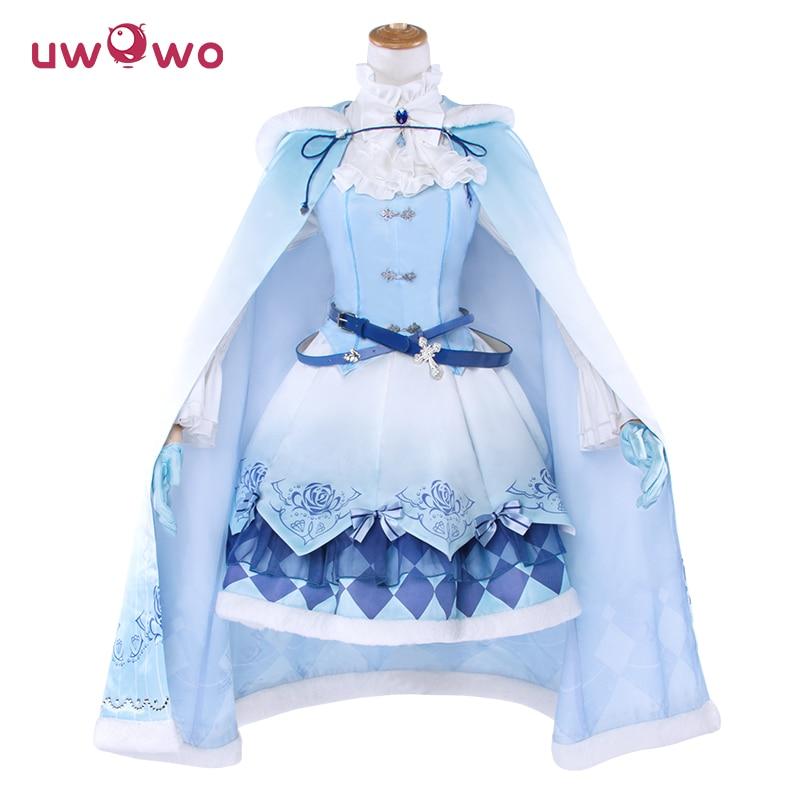 UWOWO Miracle Nikki Costume Spil Dinowo Cosplay Prinsesse Lisa Isblå - Kostumer - Foto 1