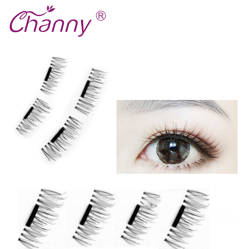 4 Pcs Pairs 3D Magnetic False Fake Eyelashes Soft Makeup Mink Eyelashes Natural Eye Lashes False Eyelashes Drop Shipping