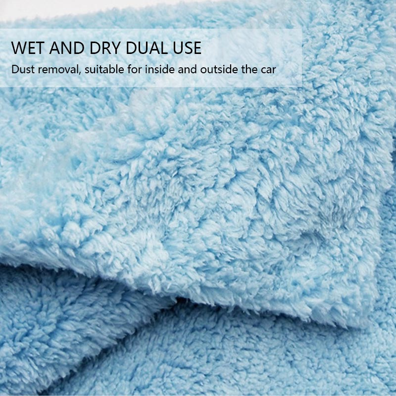 Image 3 - Microfiber Towel Car Wash Towels Auto Detialing Clean Cloth Washing Drying Towels Strong Thick Plush Fiber Car Wash Accessories-in Sponges, Cloths & Brushes from Automobiles & Motorcycles