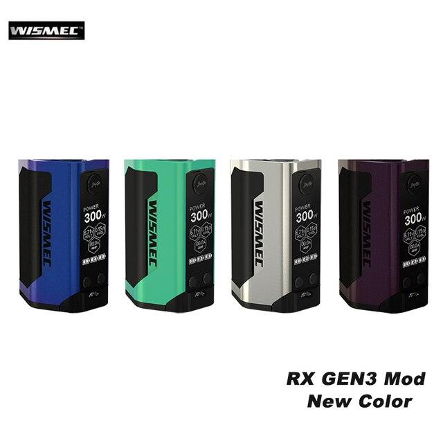 Оригинальные электронные сигареты wismec reuleaux RX GEN3 300 Вт поле mod VAPE Поддержка гном распылитель rda РБА RTA VS Тесла invader 3