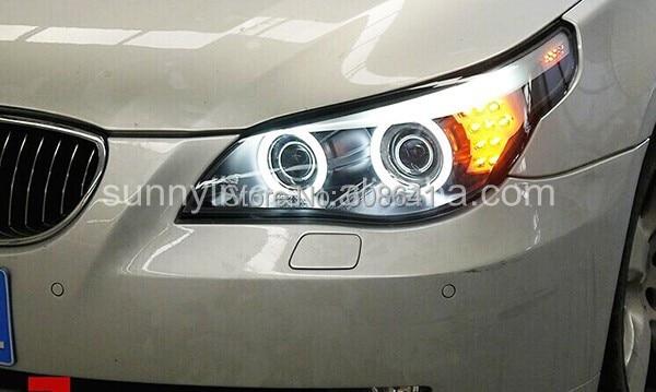 E60 523i 525i 530i головного света с холодным катодом(CCFL) Ангельские глазки 2005-2006Year для BMW автомобиль с HID комплект