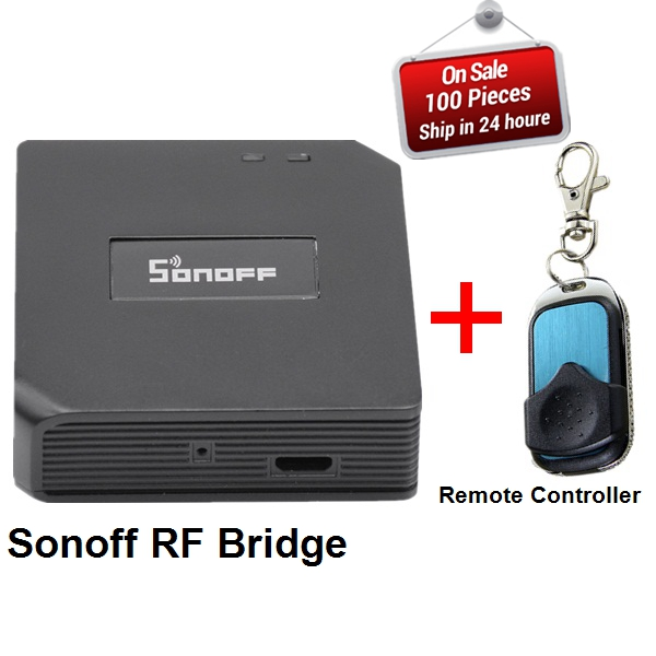 US $11 58 |Original Sonoff RF Bridge 433 Smart Home Automation Module Wifi  Switch Universal Timer Diy 433Mhz Remote Controller replacement-in Smart